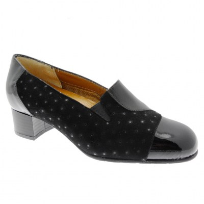 SOFFICE SOGNO 20512 black high-necked woman shoe with removable anatomic footbed