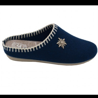 FLYFLOT standard numbers Shoes Blue lana cotta heel 1 cm