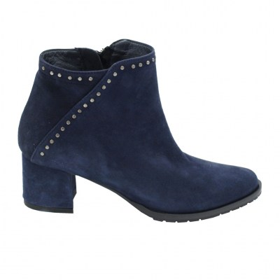 Angela Calzature Numeri Speciali special numbers Shoes Blue chamois heel 4 cm