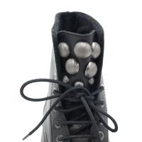 FRAU scarpe donna stivaletti in pelle colore nero tacco basso 1-4 cm    numeri standard