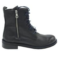 Angela Calzature Numeri Speciali scarpe donna stivaletti in pelle colore nero tacco basso 1-4 cm   n.43 numeri speciali