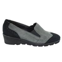 Angela Calzature Numeri Speciali scarpe donna mocassini in camoscio colore grigio tacco basso 1-4 cm   n34,42 numeri speciali
