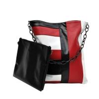 PEONIA 18 borda shopper multicolore bianco rosso nero