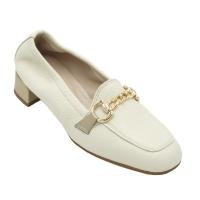 Angela Calzature Numeri Speciali scarpe donna mocassini in pelle colore beige tacco basso 1-4 cm   fino al 42,43