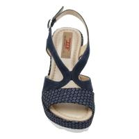 Angela Calzature Numeri Speciali scarpe donna sandali in nabuk colore blu tacco alto 8-11 cm   con 33,34,42