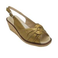 Angela Calzature Numeri Speciali scarpe donna sandali in pelle colore bronzo tacco basso 1-4 cm   33,34,35 numeri speciali