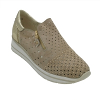 Melluso  Shoes Beige chamois heel 3 cm