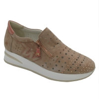 Melluso  Shoes Pink chamois heel 3 cm