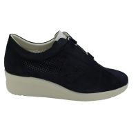 Melluso  Shoes Blue chamois heel 2 cm