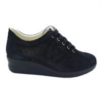 Melluso  Shoes Blue nabuk heel 2 cm