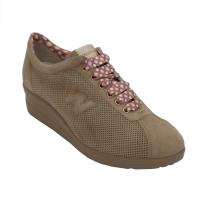 Melluso sneakers in pelle colore beige tacco basso 1-4 cm   numero 43 Donna