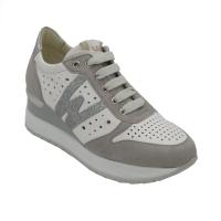 Melluso sneakers in pelle colore bianco tacco medio 4-7 cm