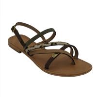Les Tropeziennes sandali in cuoio naturale colore marrone tacco basso 1-4 cm