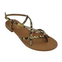 Les Tropeziennes sandali in cavallino colore marrone tacco basso 1-4 cm