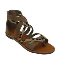 Les Tropeziennes sandali in nabuk colore beige tacco basso 1-4 cm