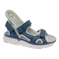 MEPHISTO ALLROUNDER ITS ME sandalo donna blu plantare estraibile regolabile