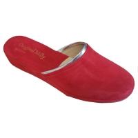 MILLY 7200 ciabatta in camoscio rosso deliziosa e con classe