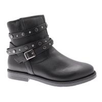 CALZATURIFICIO LOREN C3827 black ankle boot with orthopedic studs