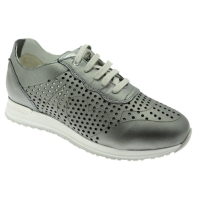 Loren shoe factory C3845 orthopedic sneacker metal gray woman shoe