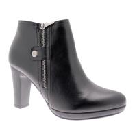 KEYS K-050 stivaletto nero con cerniera ankle boot