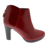 KEYS K-051 stivaletto bordeaux con cerniera ankle boot