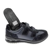 LOREN G0319 sneaker ortopedica plantare estraibile blu strappo