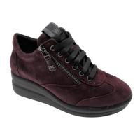 MELLUSO WALK R25610 bordeaux lacci e lampo plantare zeppa sneaker