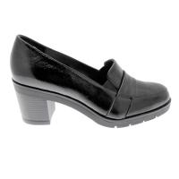 SOFFICE SOGNO 9835 scarpa donna mocassino vernice nero tacco