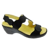 LOREN E0687 sandalo ortopedico con plantare estraibile nero regolabile