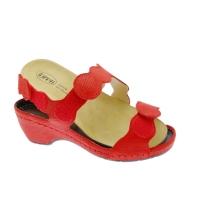 LOREN E0687 sandalo ortopedico con plantare estraibile rosso regolabile