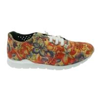 SLOWWALK W120 HELIOS-H-PRINT  sneaker slip on floral  plantare vegan shoes