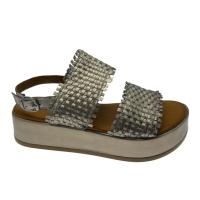 MELLUSO WALK K56003 sandalo fascioni intrecciati zeppa