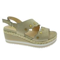 MELLUSO R70742 sandalo beige con zeppa