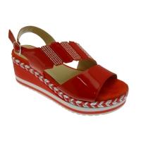MELLUSO R70745 sandalo vernice rosso zeppa