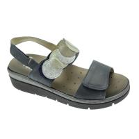 MELLUSO WALK 019133 sandalo blue jeans plantare estraibile