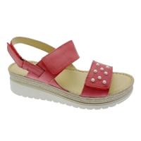 MELLUSO WALK 019133 coral wedge sandal