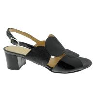 SOFFICE SOGNO 20123  sandalo nero accollato ballo cuoio