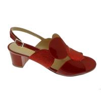 SOFFICE SOGNO 20123  sandalo rosso accollato ballo cuoio