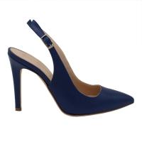 Angela Calzature Numeri Speciali scarpe donna sandali in pelle colore bluette tacco alto 8-11 cm   Numero 34 tacco 10cm numeri speciali
