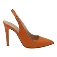 Angela Calzature Numeri Speciali scarpe donna sandali in pelle colore arancione tacco alto 8-11 cm   Numero 34 tacco 10cm numeri speciali