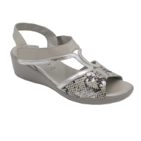 Confort standard numbers Shoes Grey leather heel 3 cm