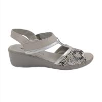 Confort scarpe donna sandali in pelle colore grigio tacco basso 1-4 cm    numeri standard