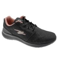 ADRUN 8706 FLEX POWER sneaker nera rosa elasticizzata