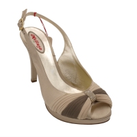 Melluso standard numbers Shoes Beige satin heel 9 cm