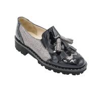 Angela Calzature Numeri Speciali scarpe donna inglesine in pelle colore nero tacco basso 1-4 cm   nr 33 numeri speciali