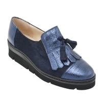 scarpe donna inglesine in pelle colore bluette tacco basso 1-4 cm   nr 34 numeri speciali