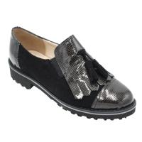 scarpe donna inglesine in pelle colore nero tacco basso 1-4 cm   nr 33,34,41,43 numeri speciali