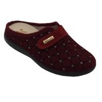 SUSIMODA scarpe donna pantofole ciabatte in lana cotta colore bordeaux tacco basso 1-4 cm   nr 42 numeri speciali
