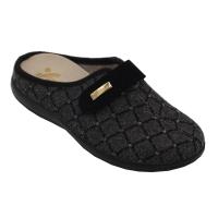 SUSIMODA scarpe donna pantofole ciabatte in lana cotta colore nero tacco basso 1-4 cm   nr 42 numeri speciali